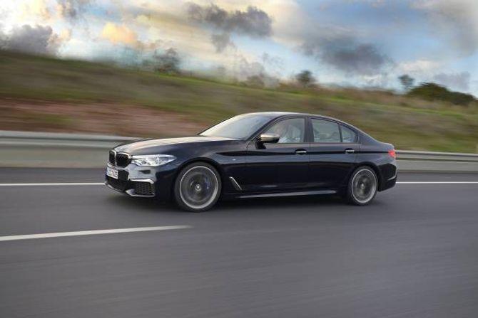 NY FEMMAR: BMWs 5-serie skal, som alltid, være ein sportsleg familiebil.