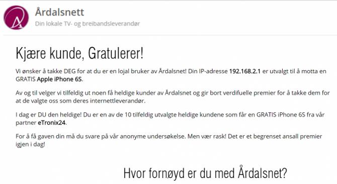 SVINDEL: Slik såg e-posten ut. Dårleg språk, skrive på bokmål er eit tydeleg teikn på at dette kan vere svindel.