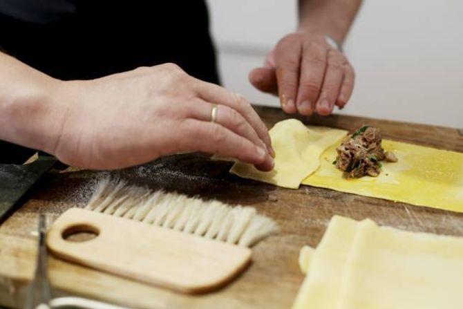 BRETT OVER: Brett pasta over fyllet.