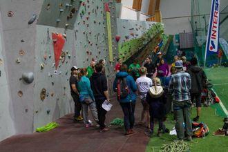 INFORMASJON: 25 personar var påmeldte til klatrekonkurransen.