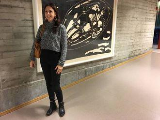 FØREDRAG: Fredag heldt Münch føredrag på Årdal Vidaregåande skule.