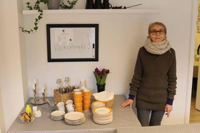 KAFÈ: Ingrid Eraker tek ansvar for seniorkafeen måndagane.