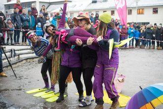 LETTA SJEF: Ragnhild Fagerslett, sjef for Fjellsportfestivalen, var letta då ho vakna til kvite fjell i Sogndal.