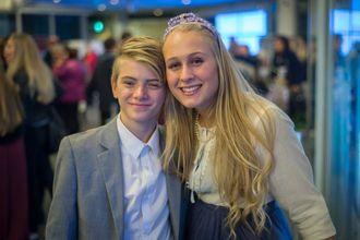 ELSKAR DANS: Fredrik Leirdal Henden (13) ogMarielle Brandshaug (17) trivst best på dansegolvet.