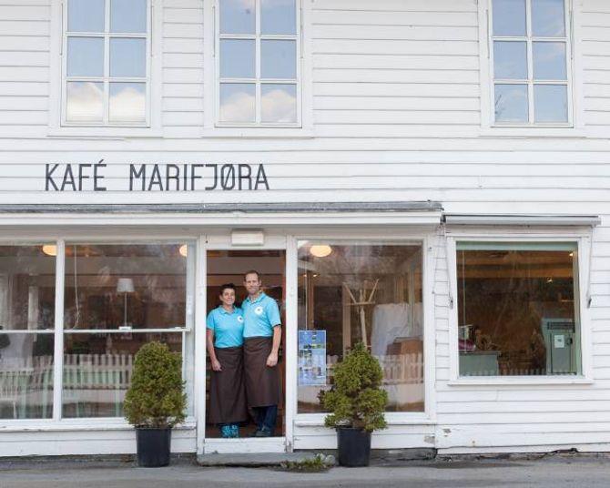 Franka og Paul i Sognefjord Sjokolade har allereie vakse ut av lokala til Marifjøra Kafé. No skal dei bygga eit nytt produksjonslokale på 160m2, berre eit steinkast frå det gamle.