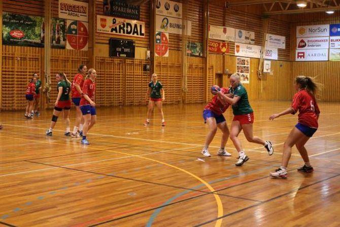 KAMP: Jotun/Årdalstangen gjekk opp i leiinga raskt, då dei spela mot Bjørn.