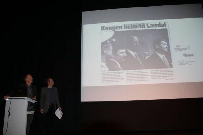 KONGEN: I 1996 var kongen i Lærdal for å opne villakssenteret.