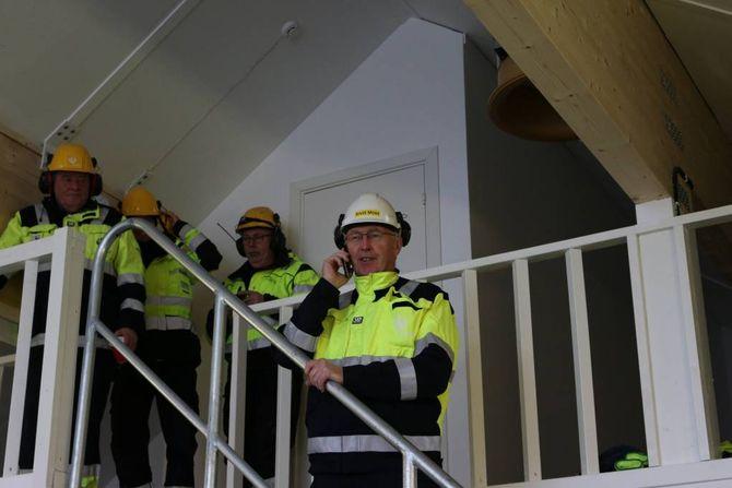 RINGTE: Arvid Moss, konserndirektør innan Energi og forretningsutvikling i Norsk Hydro, tok ein telefon og vips så var Mannsberg Kraftverk i drift.