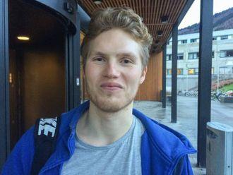TOMMEL OPP: StudentMagnus Drægni Mæland gler seg til å få nytt og flott studenthus i Sogndal.