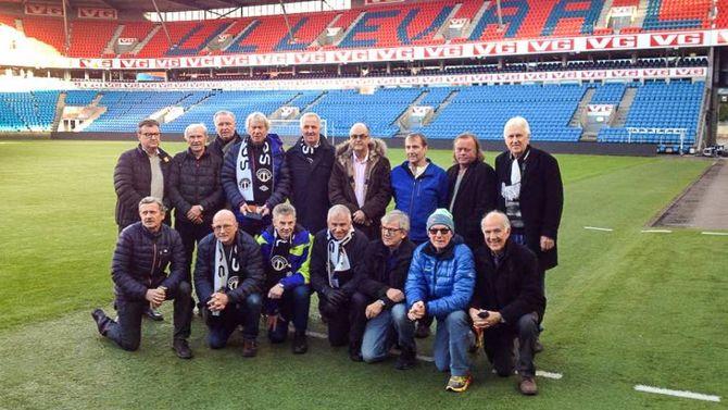 CUPHELTANE: Under årets cupfinalehelg var laget frå 1976 samla for å minnast bragden for førti år sidan. Svein Bakke var saman med keeper Leon Hovland to av legendene som var sårt sakna frå lagbiletet.