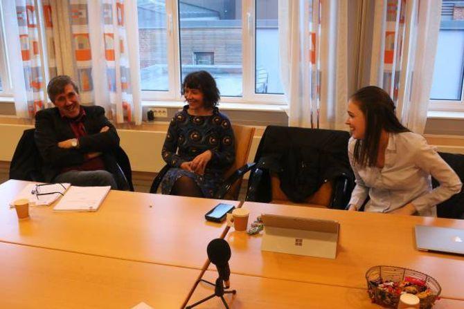 RØYSTA MOT: Erling Offerdal (Sp), Sandra Opheim (MDG) og Hilde Horpen (Sp) sa alle nei til budsjettforslaga til Ap.
