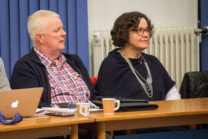 KRITISKE RØYSTER: Einar Vatlestad og Karin Vikane i Høgre er blant dei som har vore kritiske til pengebruken og prioriteringane i fjordstiprosjektet. Men resultatet er dei nøgde med.