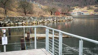 SISTE STREKKET: Siste delen av fjordstien skal etter planen bli bygd i år og bli kopla på Loftesnesbrui når den står klar tidleg 2018.