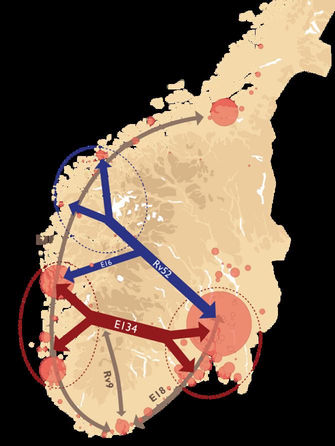 En fullverdig E134 med «arm til Bergen» og Rv52 utfyller hverandre perfekt.
