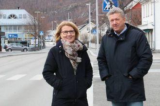 BURETTSLAG: Nærare sentrum ønskjer Greta Steinheim og Ole Vidar Øren å samarbeide om eit etablere eit burettslag.