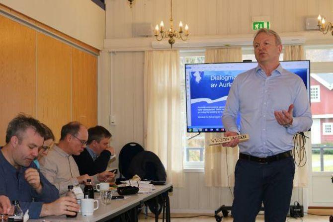 OFFENSIV: Rådmann Frank Westad var klar på at næringslivet måtte ta stafettpinnen vidare i prosjekt «Visjon Vangen».