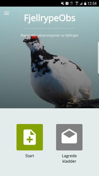 APP: Dette er appen studentane har utvikla til kartlegginga. Privat foto