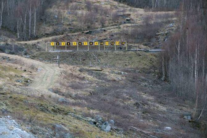 UTVIDA BANA: 200-meterbana er utvida med fire skiver. Skyttarlaget har allereie merka at dei no har like mange påmelde som andre lag i Indre Sogn.