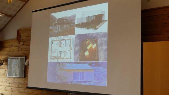 UTFORMING: Minihus kan vera utforma på mangt slags vis, forklarar arktitekt Johansen.