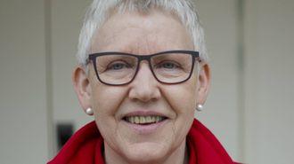 VIKTIG BODSKAP: Synøve Sande, styreleiar i Sogn og Fjordane Røde Kors