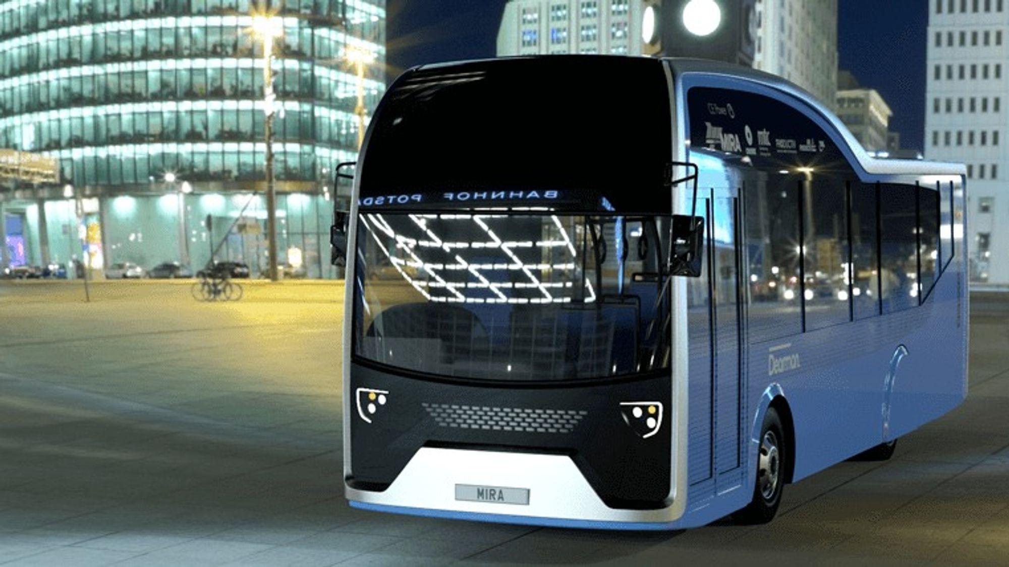 Denne bussen har dieselmotor og nitrogenmotor.
