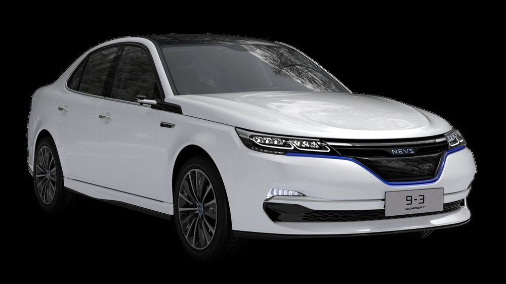 Slik er Nevs 9-3 EV som skal vises fram i Shanghai i neste uke.