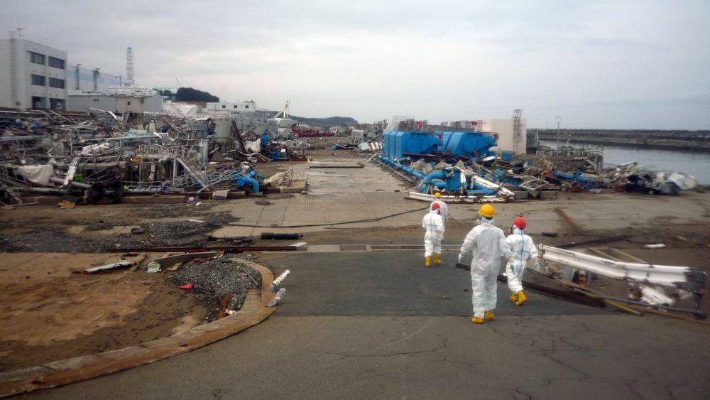 Ødeleggelsene ble massive da jordskjelvet og tsunamien rammet Fukushima Daiichi-anlegget 11. mars 2011.