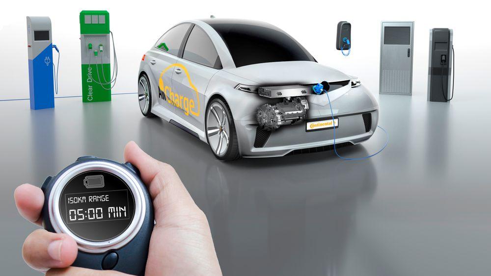 Continental AllCharge skal gjøre det mulig å lade elbiler raskt fra alle strømkilder.
