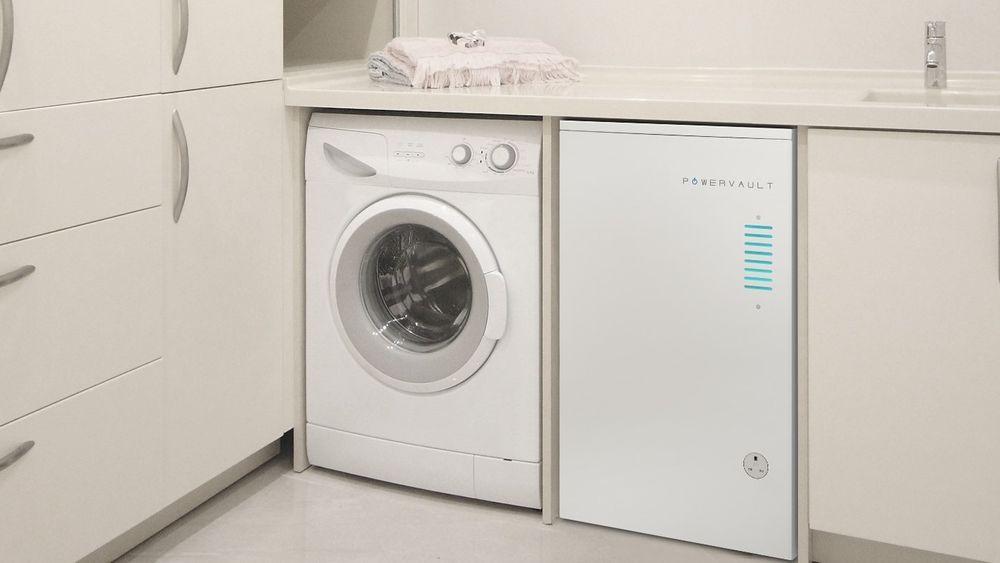 Powervault har en utforming som gjør at det tar samme plass som hvitevarer som standard vaskemaskiner og komfyrer.