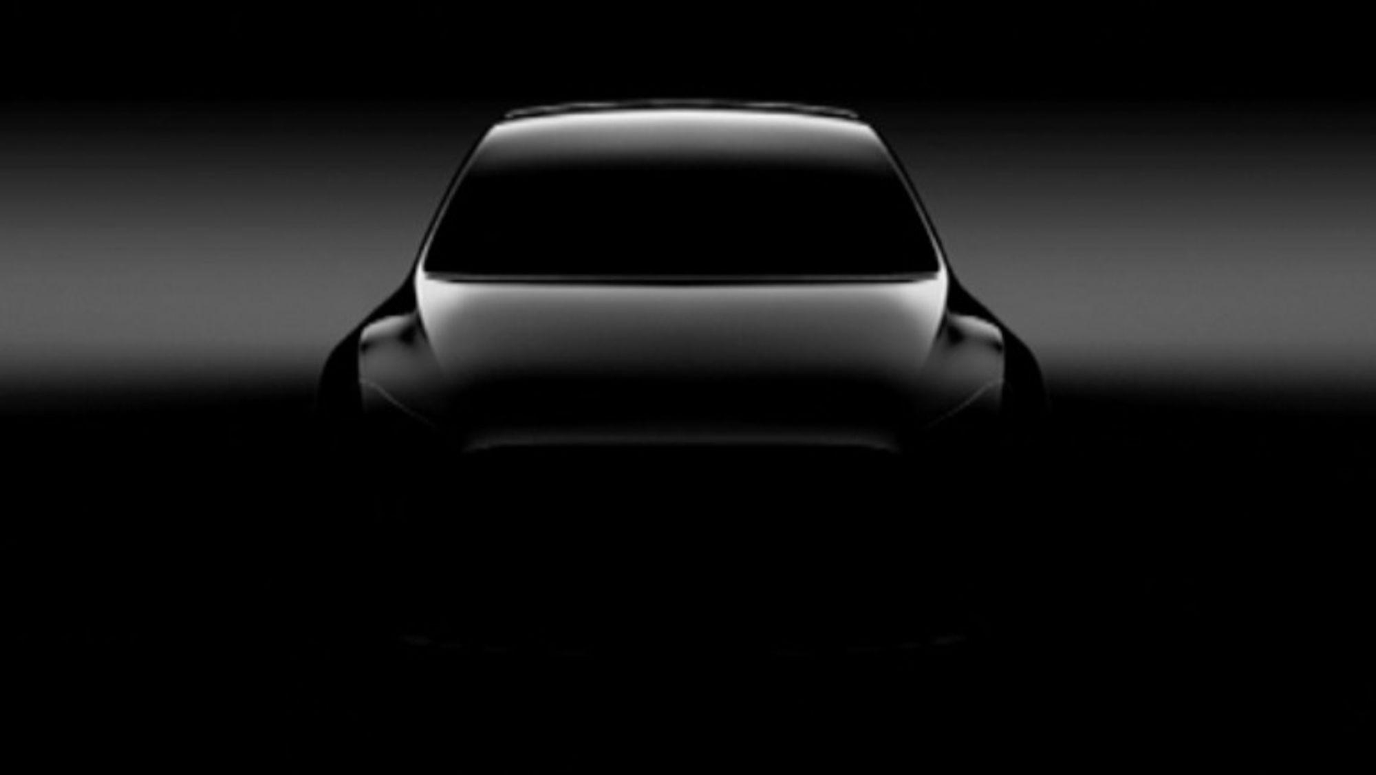 En sniktitt på Tesla Model Y.