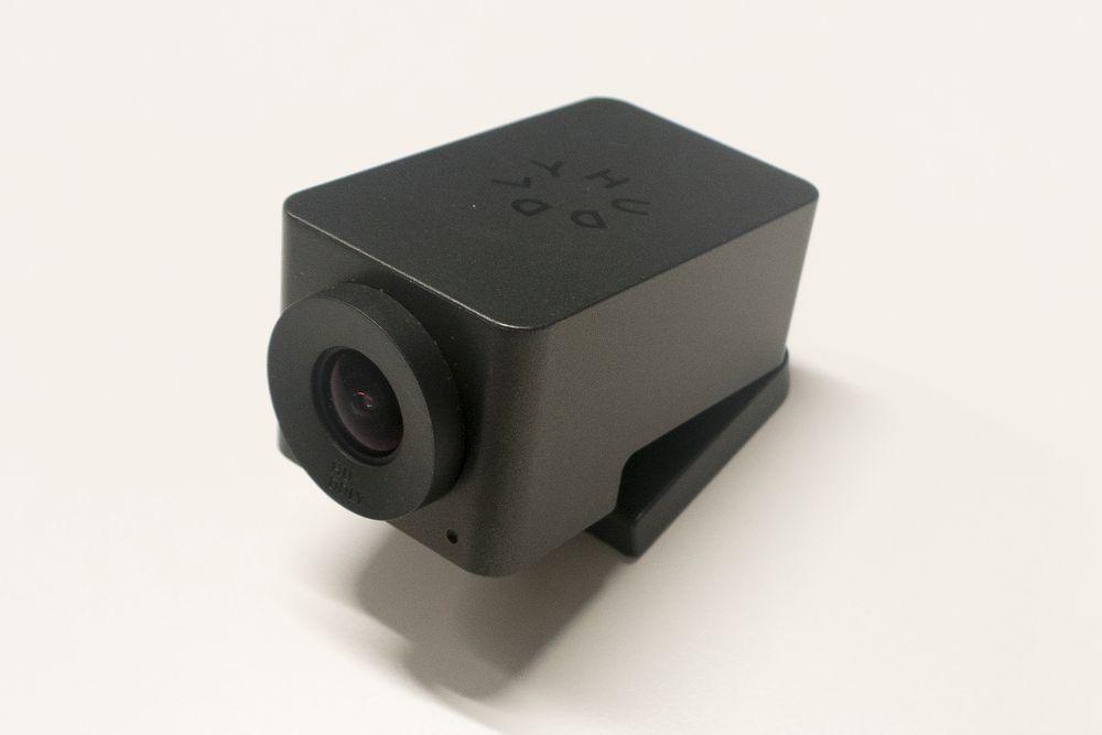 Dette knøttlille videomøtekameraet er konstruert i Norge, og skal produseres i hundretusener på Hadeland.