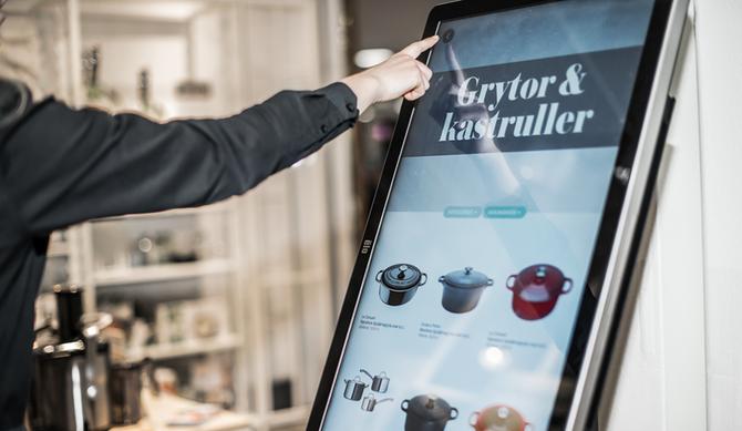 Cervera på Mall of Scandinavia benytter nå skjerm i butikk med et utvider varesortiment.