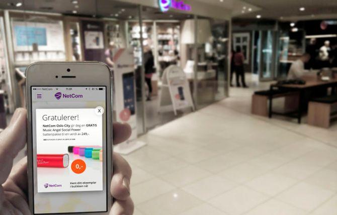 Allerede før Netcom endret navn på sine butikker til Telia, så var de første beacons-testene i gang i kjedens butikker.