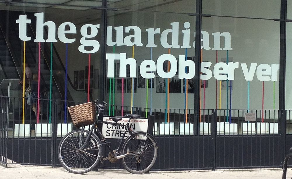 The Guardian og Observers lokaler i London.