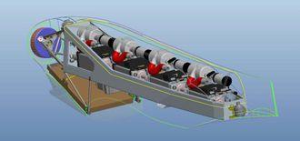 Brenselceller: De fire brenslecellemodulene er plassert bak motoren i midten av flyet
