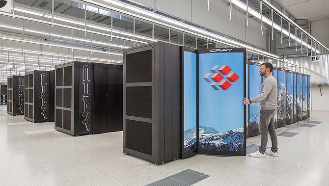 Sveitsiske Piz Daint ble høsten 2018 utvidet med to nye kabinetter, som til sammen inneholder 384 noder.