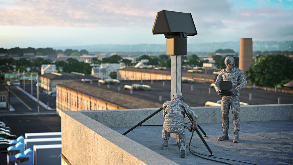 Saab-radaren Giraffe 1X kan fordeles på tre pakker og veier totalt kun 200 kg.