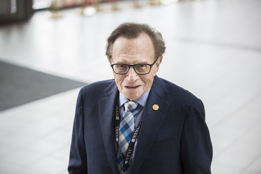 Journalist og programleder Larry King under festivalen Starmus i Trondheim.