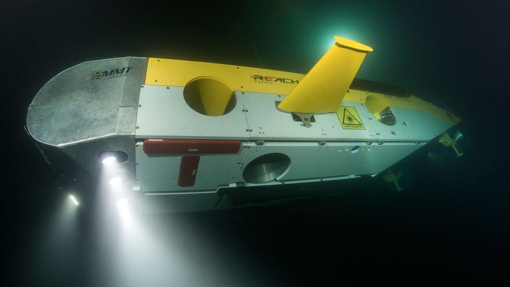 Går fort: Denne farkosten er strømlinjeformet og kan gjennomføre inspeksjon eller kartlegging på havbunnen i seks knops fart. Den har dermed tre til fire ganger større kapasitet enn tidligere ROV'er brukt til samme formål.
