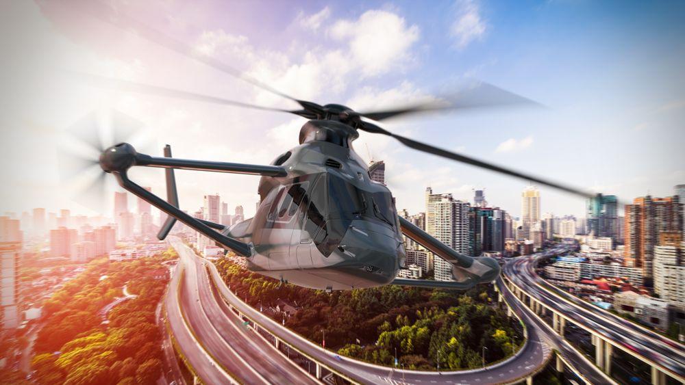 Foreløpig finnes det kun tegninger og en modell av høyhastighetshelikopteret som skal i lufta om tre år.