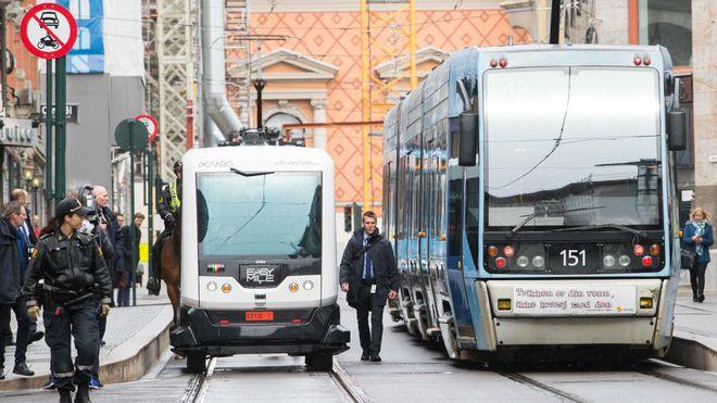Utslippsfrie selvkjørende busser på vei til Oslo