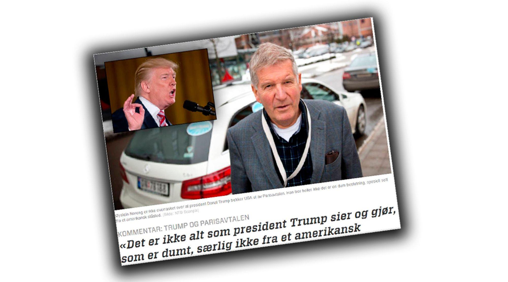 Øystein Norengs forsøk på å forklare USAs president Donald Trumps retrett fra Parisavtalen, skapte mange reaksjoner i starten av juni. Her svarer han på kritikken.