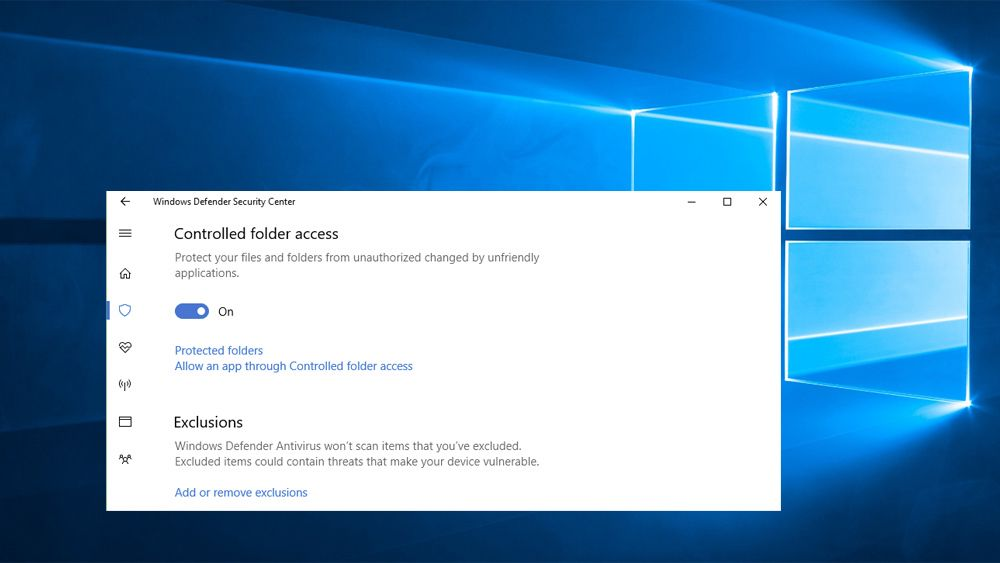 Controlled folder access-funksjonen er en del av høstoppdateringen til Windows 10.