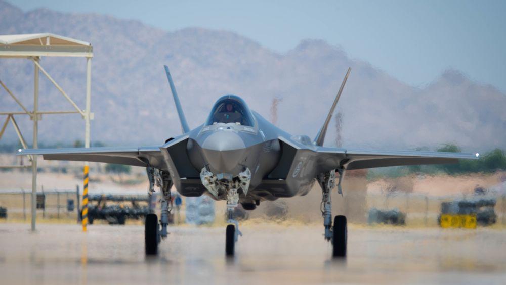 Den sjuende norske F-35 Lightning II på Luke Air Force Base i Arizona 29. juni. Foto: USAF/Jensen Stidham