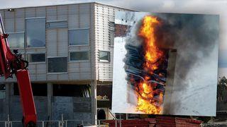 Den norske skolen ble bygget med brennbar isolasjon. – Ville brent raskere enn Grenfell Tower