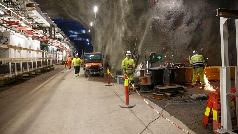 Follobanen: Fire tunnelboremaskiner skal bore mesteparten av Nordens hittil lengste jernbanetunnel.