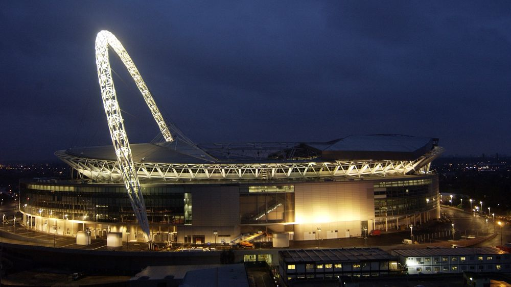 Wembley Stadium i London.