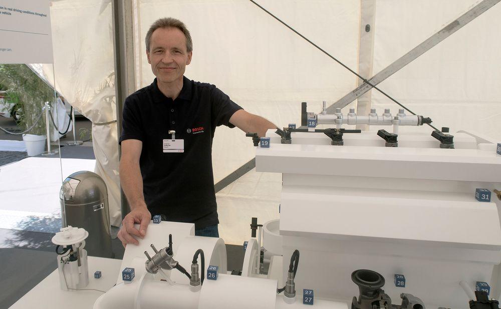 Dieselmann: Dr. Andreas Kufferath som er sjef for utvikling av dieselteknologi i Bosch, men kan svært mye om bensinmotorer også.