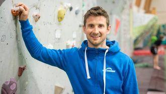 SATSAR STORT: Jarle Kalland i Idrettssenteret seier det nye anlegget vil framstå som topp moderne når det er ferdig.Ei stor auke i interessa for klatring har framprovosert utvidinga.