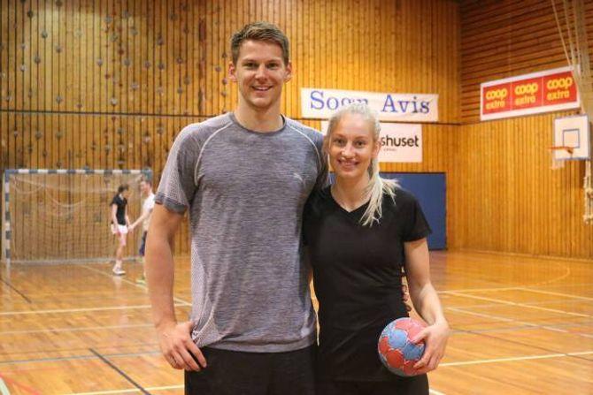 SAMAN: Handballparet skal bu saman i Holstebro, der Torbjørn held fram å spela. Hege får litt reiseveg til sin nye klubb, Silkeborg.